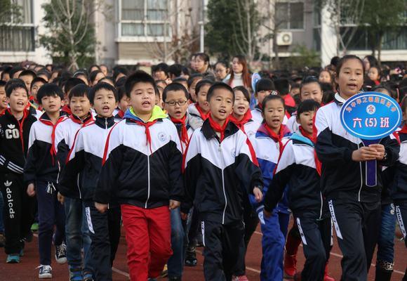 振兴路小学学生阳光运动会开幕了