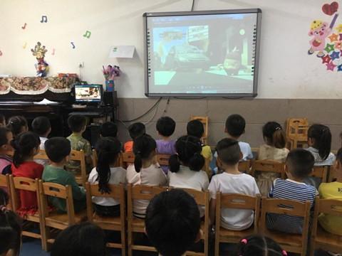 县一幼组织幼儿观看《文明的力量》系列动画