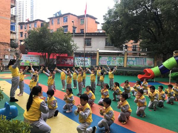 南昌县第四幼儿园举行早操比赛