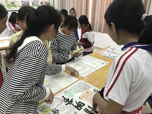 东新乡河下小学开展清明节手抄报评比活动